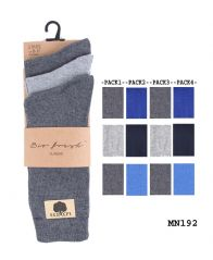 Men plain cotton rich socks